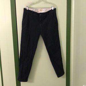 Hollister Dark Navy Straight Leg Chino Pants